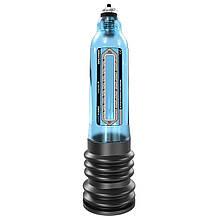 Гидропомпа для увеличения члена Bathmate (Басмейт) Hydro 7 синяя для пениса 12.5-17.5 см - Бесплатная