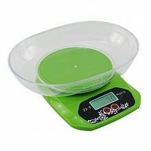 Весы кухонные Kitchen ZJ-5, до 5кг с чашей