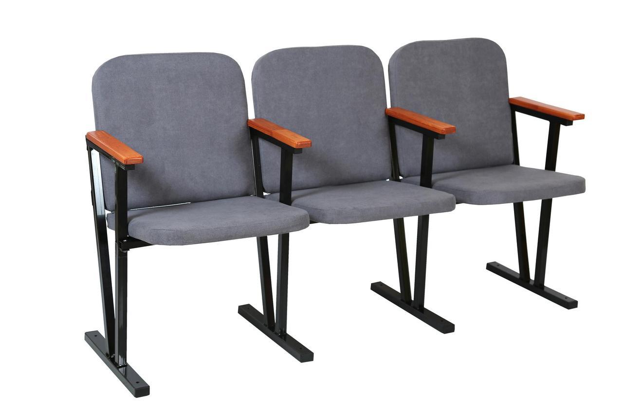 Кресло для актового зала 3-х местное, мягкое