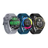 Смарт розумні годинник Smart Watch ZX-02 жіночі з датчиком пульсу і тиску сенсорні наручний годинник фітнес-трекер, фото 6