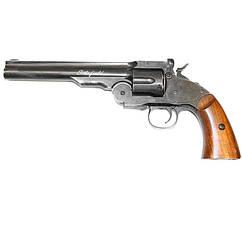 """Револьвер пневматический ASG Schofield Pellet (6"""" , 4,5mm), черный/дерево"""