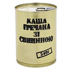 Тушонка з свинини з гречаною кашею, консерви (340г), ж/б