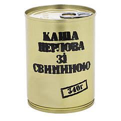 Тушонка з свинини з перловою кашею, консерви (340г), ж/б