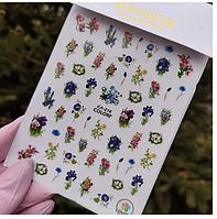 Наклейки для ногтей цветы, растения Sweet Nails са №216