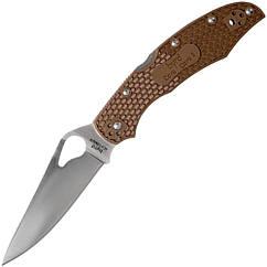 Нож складной Spyderco Byrd Cara Cara 2 (длина: 217мм, лезвие: 95мм), коричневый