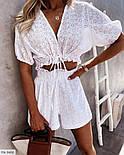 Костюм женский с шортами и блузой из прошвы, фото 4