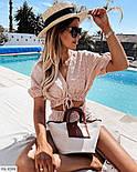 Костюм женский с шортами и блузой из прошвы, фото 2