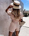 Костюм жіночий з шортами і блузою з прошвы, фото 3