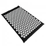 Ортопедичний килимок масажний ЧОРНИЙ Acupressure mat з подушкою, фото 3