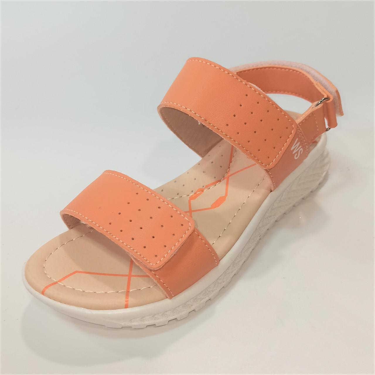 Персикові спортивні босоніжки, Weеstep розміри: 31-36
