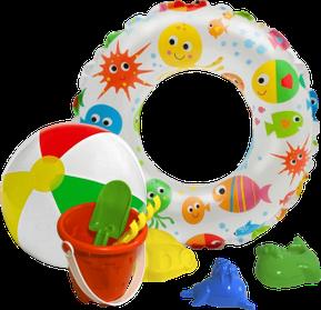 Надувные мячи и игрушки