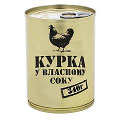 Тушенка из курицы, консервы (340г), ж/б