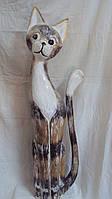 Статуэтка кошка деревянная высота 100см