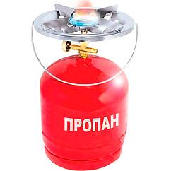 Примус туристичний, газовий з балоном (8л)