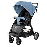 Детская прогулочная коляска - книжка с регулируемой спинкой CARRELLO Maestro CRL-1414 Soft Blue синяя, фото 2