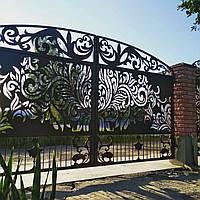 Ворота металические, художественная резка