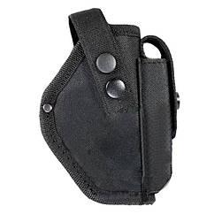 Кобура поясная для ПМ с запасным чехлом (oxford 600D), черная