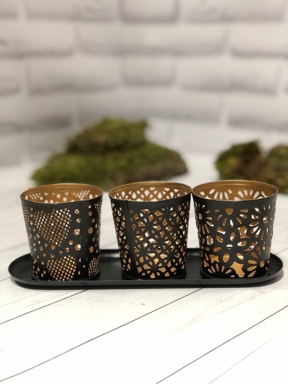 Набір свічників для чайних свічок Edeka