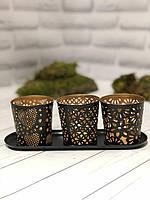 Набор подсвечников для чайных свечей Edeka