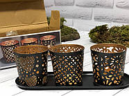 Набір свічників для чайних свічок Edeka, фото 2