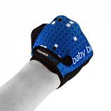 Велорукавички PowerPlay 5451 Синьо-білі M SKL24-144230, фото 3