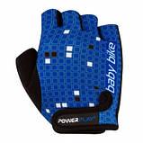 Велорукавички PowerPlay 5451 Синьо-білі M SKL24-144230, фото 5