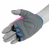 Фітнес рукавички PowerPlay 3418 Розові M SKL24-144439, фото 4