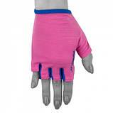 Фітнес рукавички PowerPlay 3418 Розові M SKL24-144439, фото 7