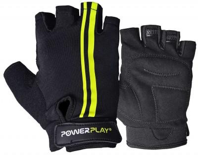 Велорукавички PowerPlay 5031 G Чорно-Жовті M SKL24-144588