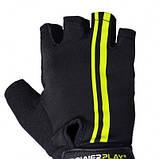 Велорукавички PowerPlay 5031 G Чорно-Жовті M SKL24-144588, фото 2