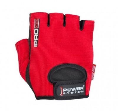 Рукавички для фітнесу і важкої атлетики Power System Red S Pro Grip PS-2250 SKL24-238288