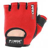 Рукавички для фітнесу і важкої атлетики Power System Red S Pro Grip PS-2250 SKL24-238288, фото 3