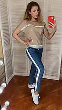 Женский летний костюм *Signet* с джинсами ,(Турция); разм 44,46,48,50,52,54,56 (норма и батал)