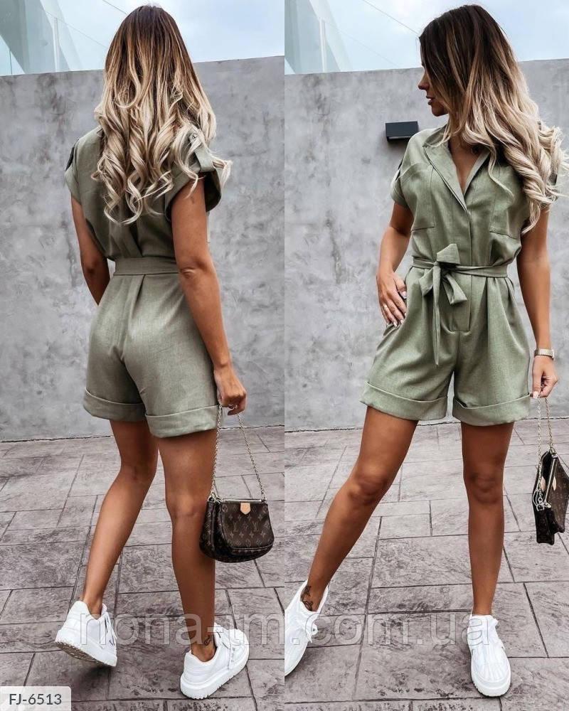 Жіночий комбінезон літній з шортами
