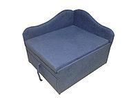Малогабаритные детские мини кровати-диваны и мягкие кресла Диванчик маленький компактный Малыш Синий