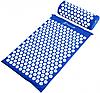 Ортопедичний килимок масажний з подушкою СИНІЙ Acupressure mat