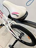 Двухколесный велосипед Corso R на 20 дюймов Бело-розовый, фото 4