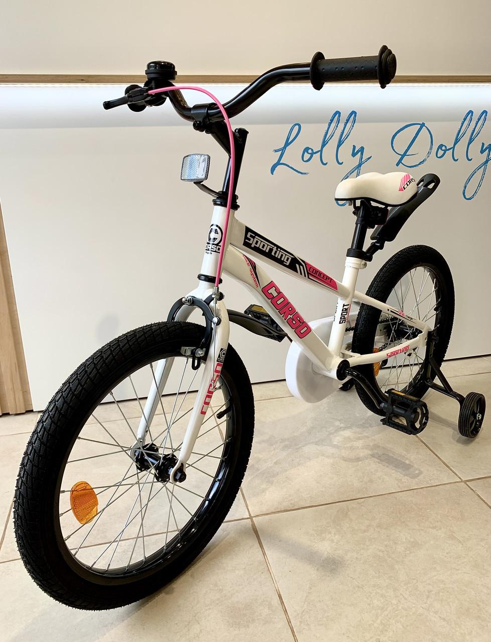 Двухколесный велосипед Corso R на 20 дюймов Бело-розовый