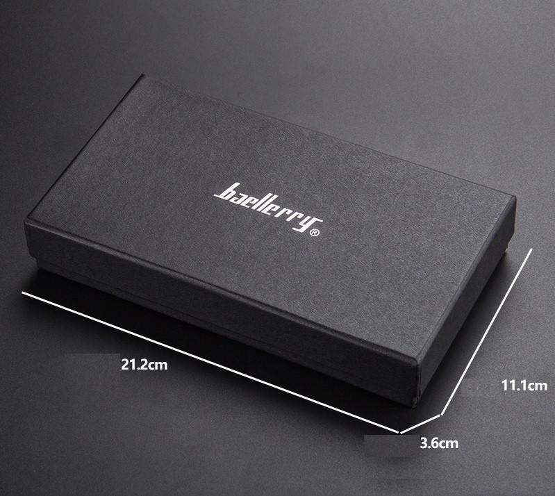 Коробка фирменная Baellerry для кошелька (клатча) черная