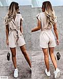 Жіночий стильний комбінезон з коротким рукавом, фото 3
