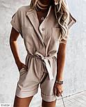 Жіночий стильний комбінезон з коротким рукавом, фото 4