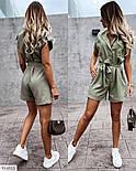 Жіночий стильний комбінезон з коротким рукавом, фото 5