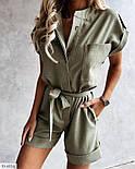 Женский комбинезон стильный с коротким рукавом, фото 6