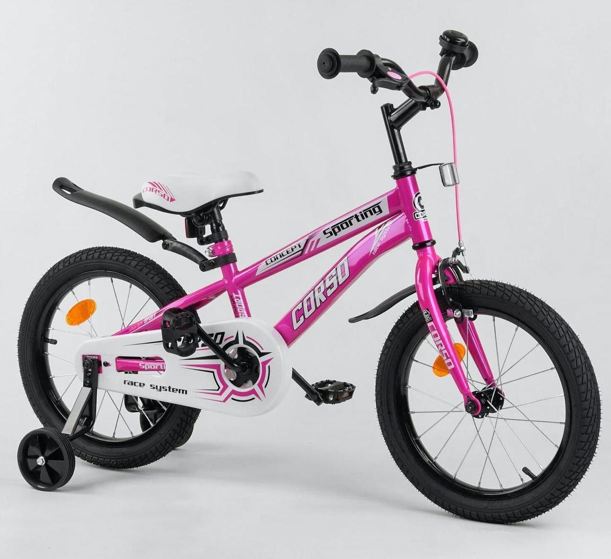 Двухколесный велосипед Corso R на 16 дюймов  16416