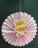 Набор для украшения детской комнаты новорожденной девочки в день выписки из роддома (веер круглый), фото 4