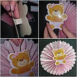 Набор для украшения детской комнаты новорожденной девочки в день выписки из роддома (веер круглый), фото 6