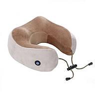 Дорожная подушка для шеи с массажем на батарейках U Shaped