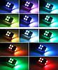 Кольорові габаритні вогні RGB. Світлодіодні автомобільні лампи габаритів RGB LED T10 W5W + пульт, фото 2