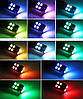 Цветные габаритные огни RGB. Светодиодные автомобильные лампы габаритов RGB LED T10 W5W + пульт, фото 2