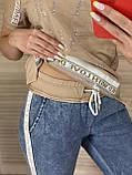 Женский  летний костюм с джинсами (Турция); разм С,М,Л,ХЛ (норма) и баталы 44 46 48 50 турецк разм, фото 3